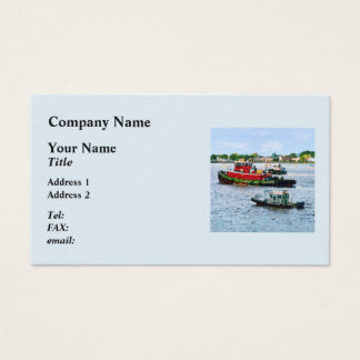 Police Boat and Two Tugboats Business Card