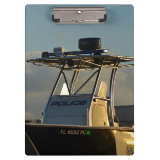 police boat bridge piece officer image clipboard
