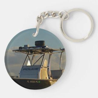 police boat bridge piece officer image acrylic keychains