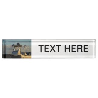 police boat bridge piece officer image nameplate