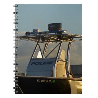 police boat bridge piece officer image notebook