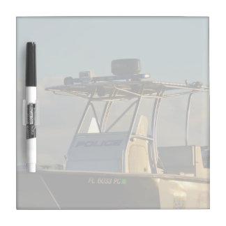 police boat bridge piece officer image dry erase boards