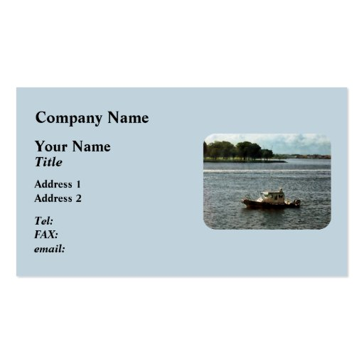 Police Boat Norfolk VA Business Card