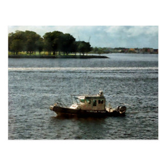 Police Boat Norfolk VA Postcard