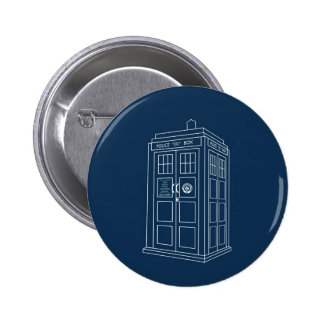 Police Box Pinback Buttons