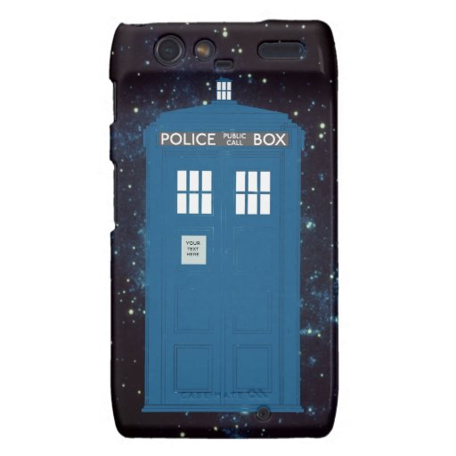 Police Box Customizable iPhone Case Motorola Droid RAZR Cases