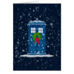 """Police Box in Christmas Snow"" Card"