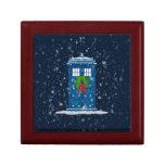 """Police Box in Christmas Snow"" Jewelry Box"
