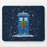 """Police Box in Christmas Snow"" Mouse Pad"