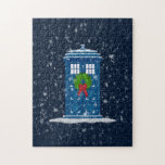 """""""Police Box in Christmas Snow"""" Puzzles"""
