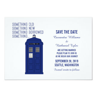 Police Box Save the Date Invite v1