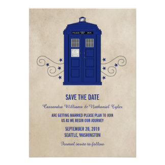 Police Box Save the Date Invite v6