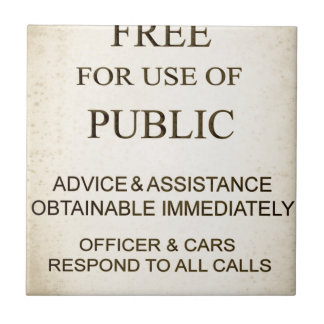 Police Box Sign.jpg Small Square Tile
