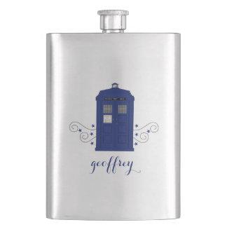 Police Box Swirls Classic Flask