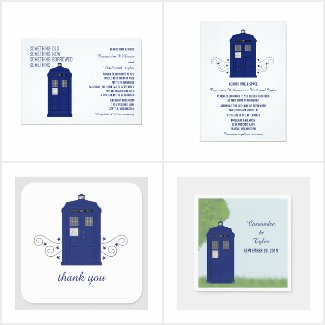 Police Box Themed Wedding Collection