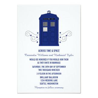 """Police Box Wedding Invite v3 5"""" X 7"""" Invitation Card"""