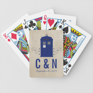 Police Box Wedding Playing Cards v6