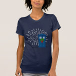 """Police Box with Christmas Wreath"" Tees"