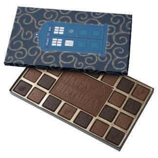 """Police Box with Swirls"" 45 Piece Assorted Chocolate Box"