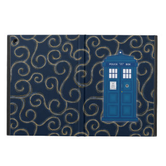 """Police Box with Swirls"" iPad Air Cover"