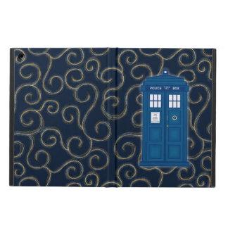 """Police Box with Swirls"" iPad Air Covers"