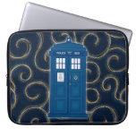 """Police Box with Swirls"" Laptop Sleeve"