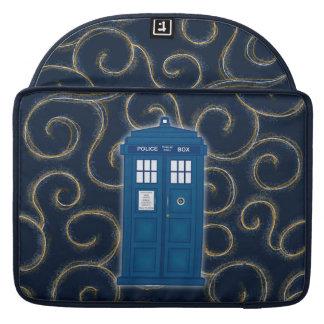 "Police Box with Swirls"" Sleeve For MacBooks"