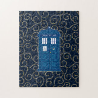 """""""Police Box with Swirls"""" Puzzle"""