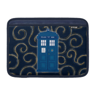 """""""Police Box with Swirls"""" Sleeve For MacBook Air"""