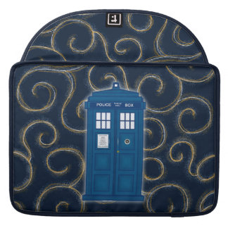 "Police Box with Swirls"" Sleeve For MacBooks"