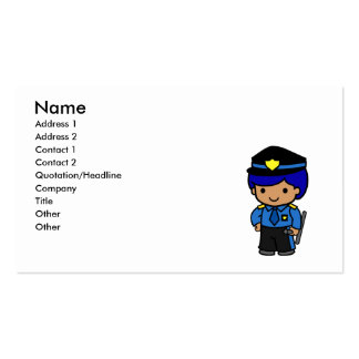 Police Boy Double-Sided Standard Business Cards (Pack Of 100)