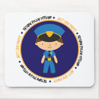 Police Boy Like Daddy Mouse Pad