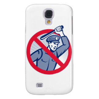 Police Brutality Policeman With Baton Samsung Galaxy S4 Case