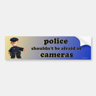 police car bumper sticker