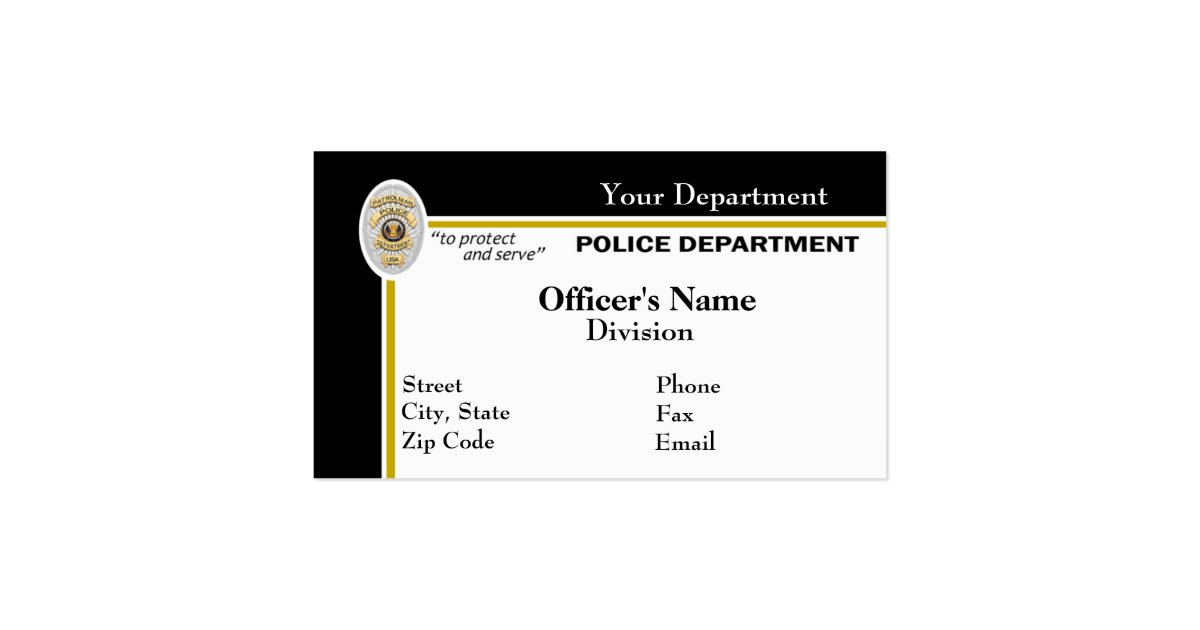 Police Business Card
