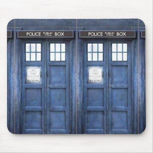 Police Call Box Mouse Pad