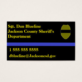 Police calling cards