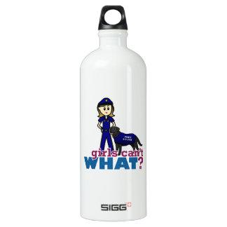 Police Canine Officer Aluminum Water Bottle