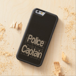 Police Captain Extraordinaire Carved Maple iPhone 6 Bumper Case