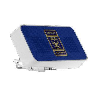 Police Captain Retired Badge Portable Speaker
