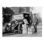 Police Capture Bootleggers Car, 1922 Postcard