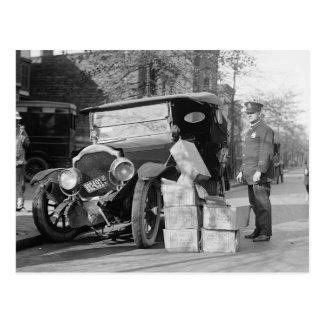Police Capture Bootleggers Car 1922 Post Cards