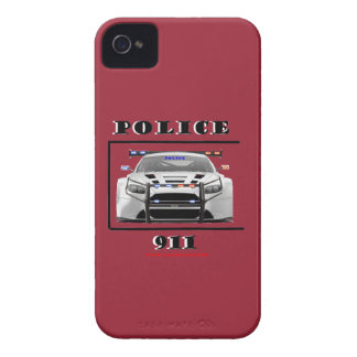 Police_Car_911 iPhone 4 Case-Mate Protectores