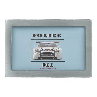 Police_Car_911 Rectangular Belt Buckle