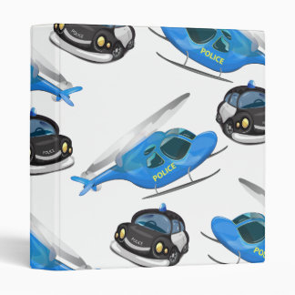 Police Car and helicopter Binder