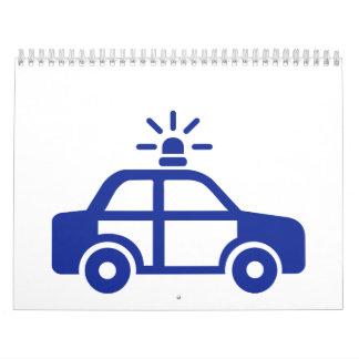 Police car calendar