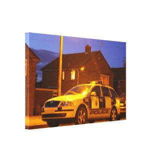 Police car canvas print