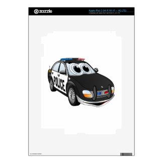 Police Car Cartoon BWB iPad 3 Skins