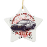 Police Car Ceramic Ornament