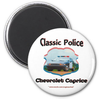Police Car Chevrolet Caprice Classic 2 Inch Round Magnet